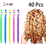 40 Pieces Spiral Hair Perm Rod, Hairdressing Spiral Hair Perm Rod, Styling Spiral Hair Perm Rod, Long Plastic Spiral Hair Perm Rod, Spiral Curling Per