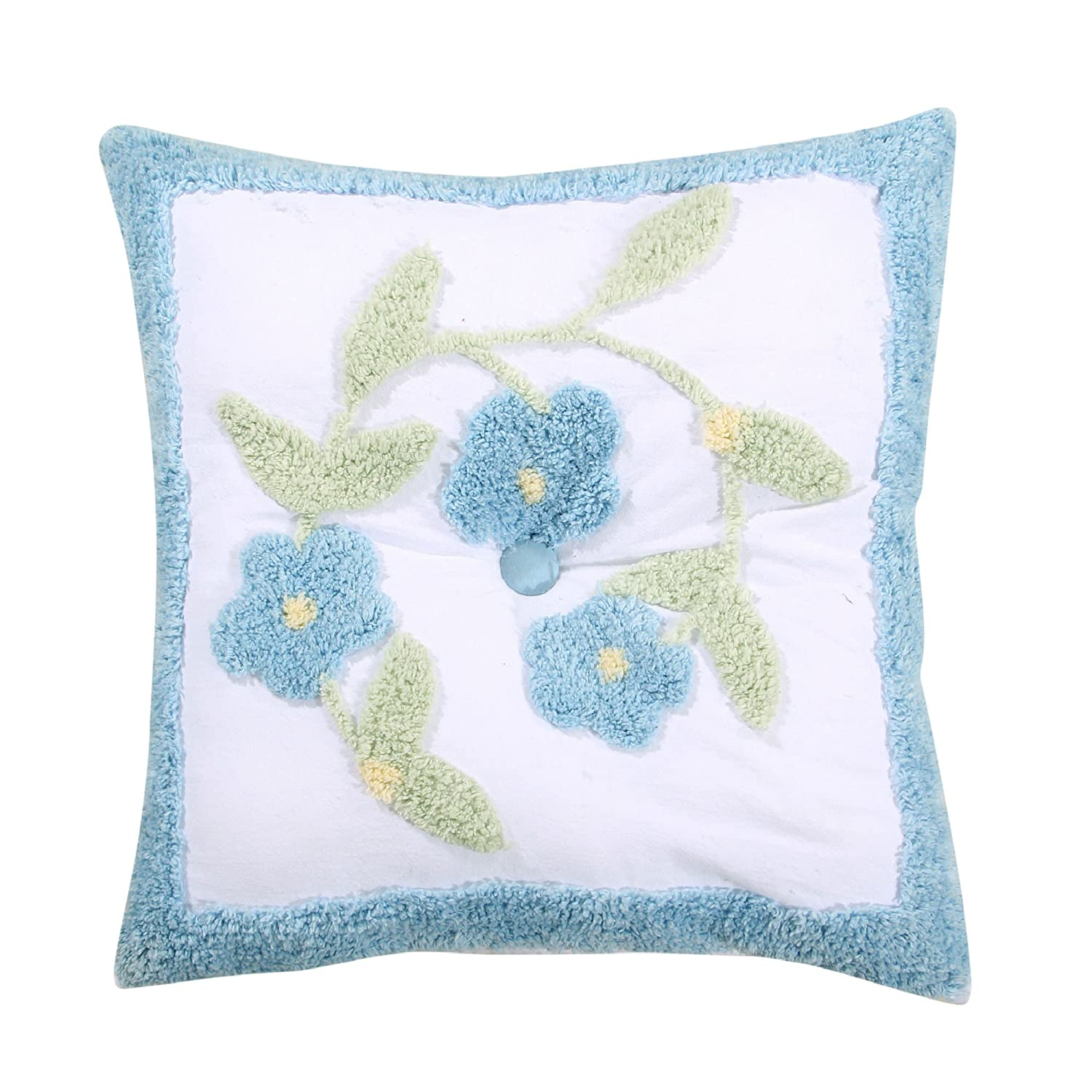 Better Trends// Pan Overseas PWBF18SBL Bloomfield Accent Pillow Blue 18 Square