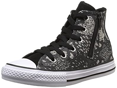 157cf567d45a Converse Junior Chuck Taylor All Star Girls Glittery Sneakers Hi  Black Mouse 649968C (5