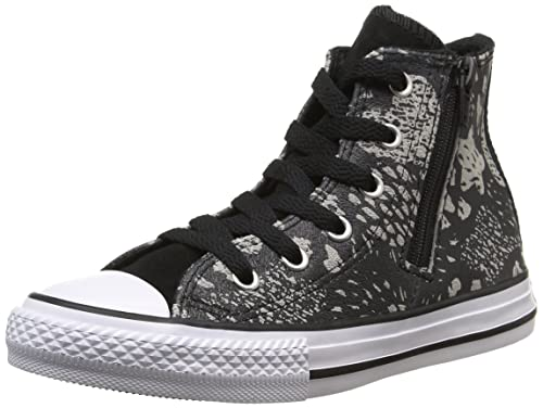6da7659aa41 Converse Junior Chuck Taylor All Star Girls  Glittery Sneakers Hi  Black Mouse 649968C (