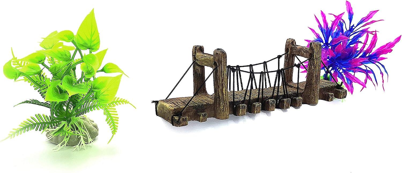 Yizhi Miaow Aquarium Ornament Kit Bridge Appearance Fish Tank Resin Decor for Fresh Water