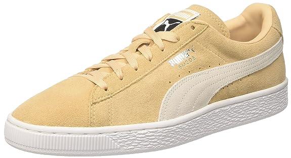 Puma Suede Classic +, Sneakers Basses Mixte Adulte, Beige (Natural Vachetta-Puma  White 08), 39 EU: Amazon.fr: Chaussures et Sacs