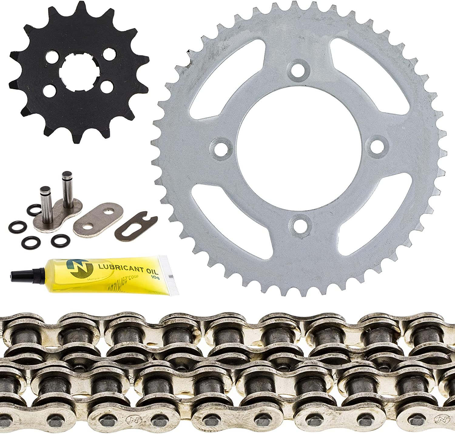 NICHE Drive Sprocket Chain Combo for Honda XR80R CRF80F Front 14 Rear 46 Tooth 420HZ Standard 110 Links