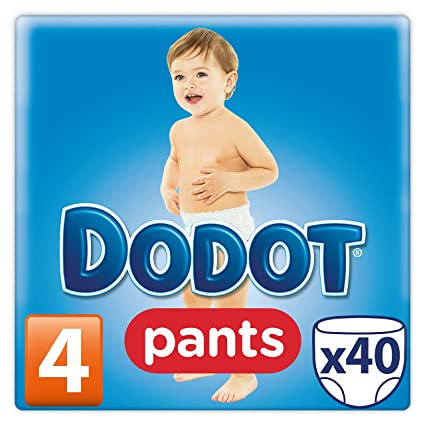 Dodot Pañales Pants, Talla 4, para Bebes de 8-15 kg - 40
