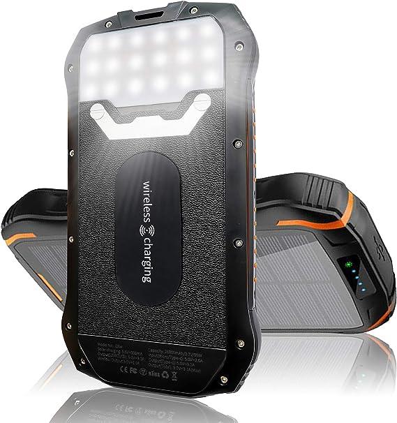 Amazon.com: SPL - Cargador solar de 26,800 mAh, cargador ...