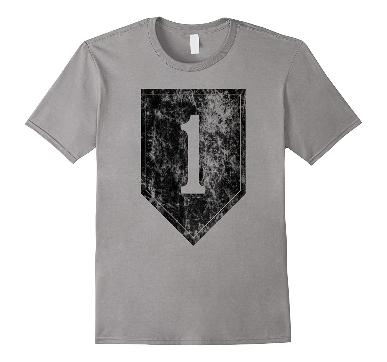 1st infantry Division Patch Distressed T Shirt- Men Women-Art