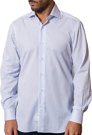 Barba Napoli - Hombre de la Camisa de Algodón de Mangas Largas K1U66H592902U: Amazon.es: Ropa y accesorios
