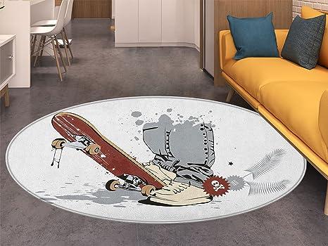 Amazon.com: Alfombra redonda para sala de adolescentes ...