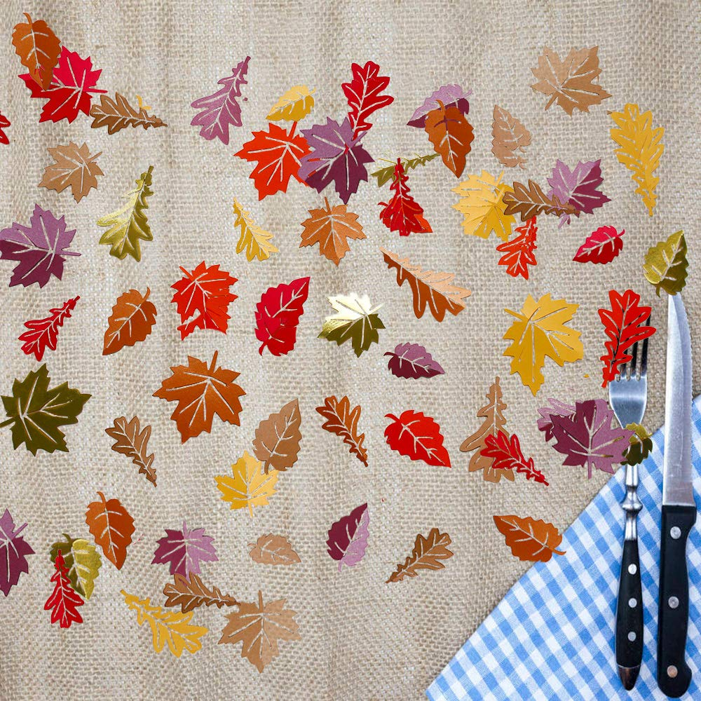 Fabric Maple Leaves Autumn Fall Thanksgiving Party Table Decoration Confetti