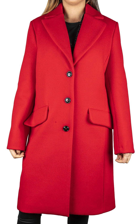 Kaos Cappotto Donna 40 Rosso Ki1co015 Autunno Inverno 2018