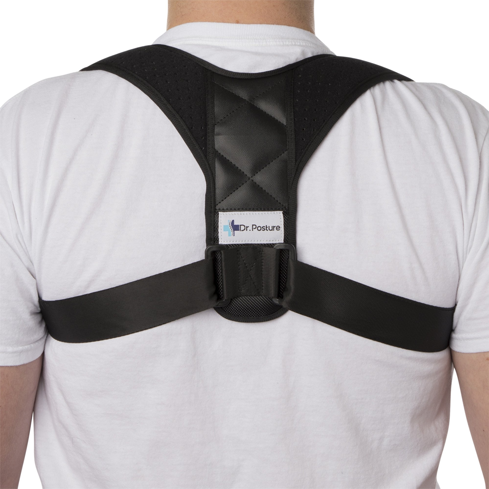 Back Posture Corrector for Women and Men by Dr Posture - Adjustable Posture Back Brace Corrects Smart Phone and Computer-Related Posture Problems - Clavicle Support Improves Breathing and Confidence