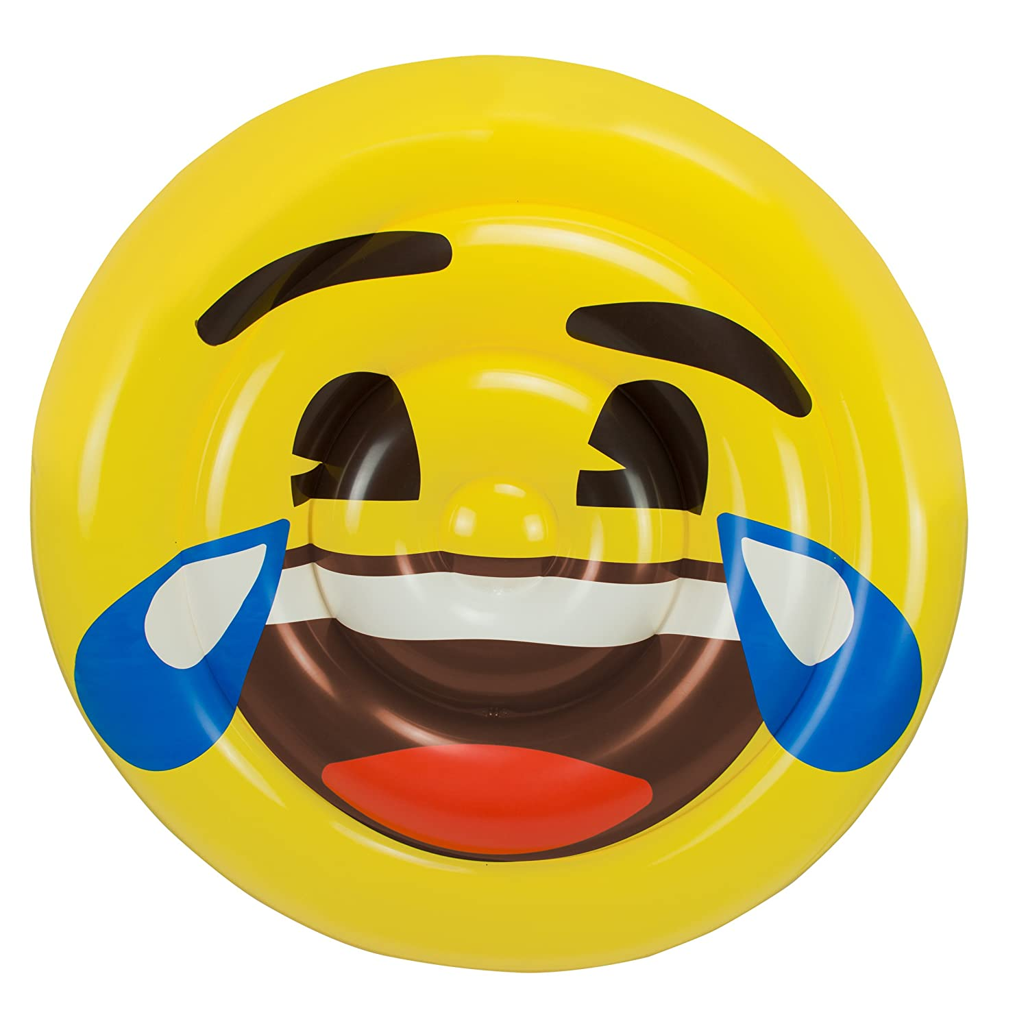 Amazon.com: emoji 5885 Smile Face Bed Float Toy: Toys & Games