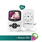 Baby Space Video Baby Monitor 2.4 Inch LCD Display, Digital Camera with Infrared Night Vision, Temperature Monitoring, 2 Way Talkback, Lullabies, ...