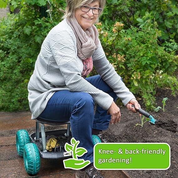 UPP® Jardín Carro/Roll Asiento/Utensilios de jardín/Carrito ...