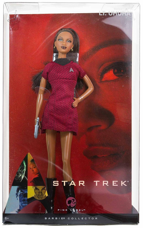 Barbie Star Trek Lt Uhura AA Red /& Black Dress Lovely Mattel N5503