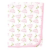 Touched by Nature Organic Cotton Blanket, Pink Flowers