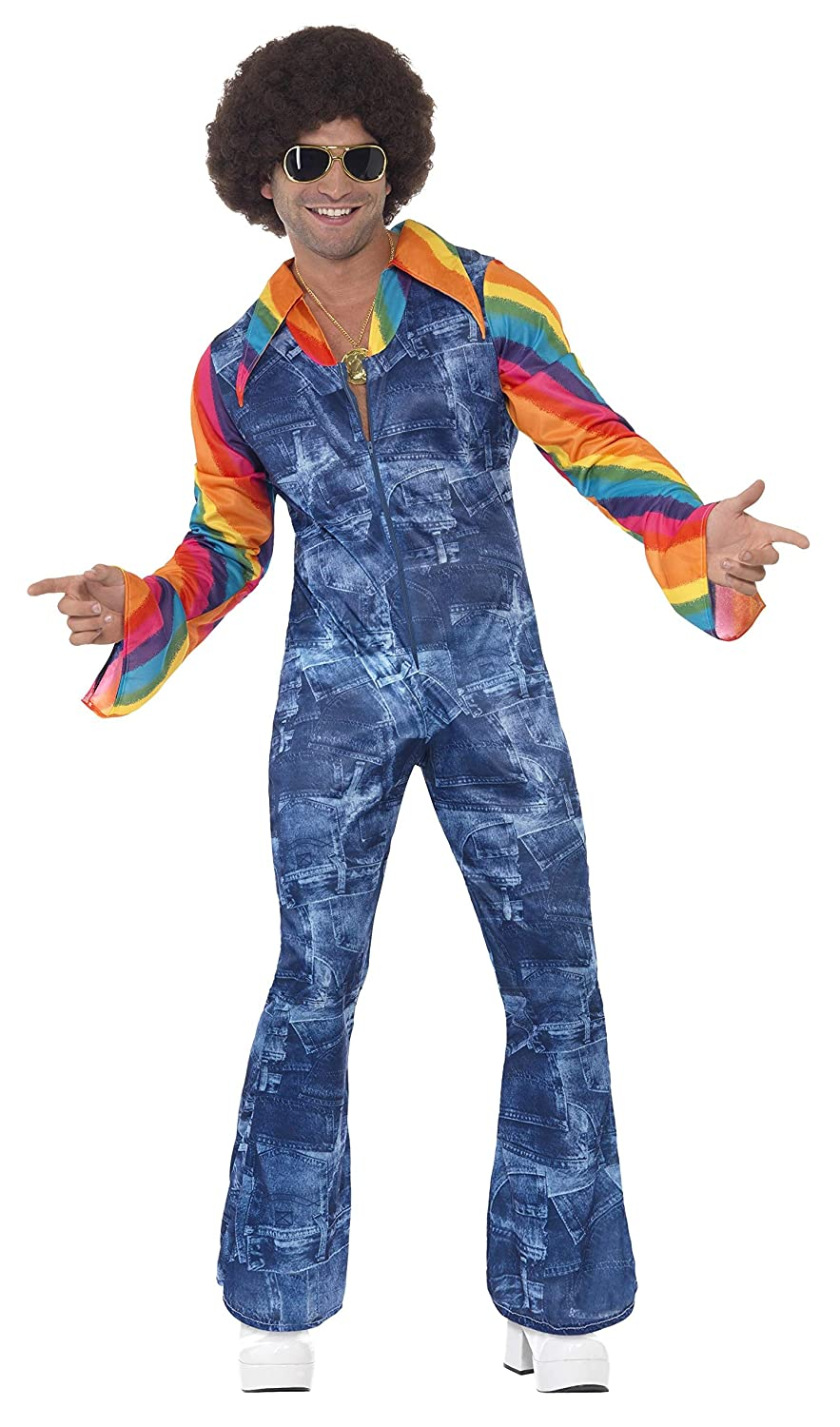 70s Costumes: Disco Costumes, Hippie Outfits Mens Groovier Dancer Costume Disco Outfit $72.40 AT vintagedancer.com