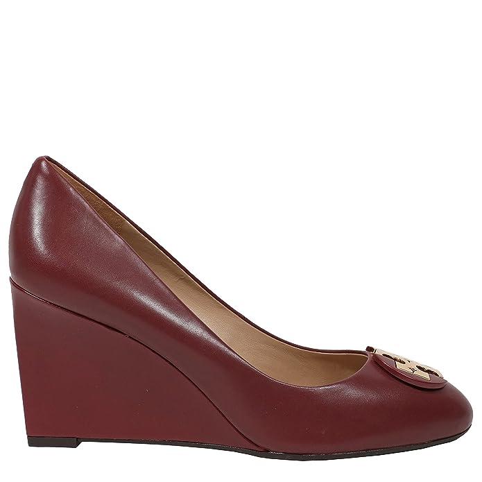 c33f4e99a4 Amazon.com | Tory Burch Luna 85mm Wedge Leather Shoes | Platforms & Wedges