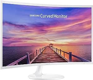 Samsung 32 inch CF391 Curved Monitor (LC32F391FWNXZA) - 1080p, Dual Monitor, Laptop Monitor, Monitor Stand/Riser/Mount Compliant, AMD Freesync, Gaming, HDMI, White
