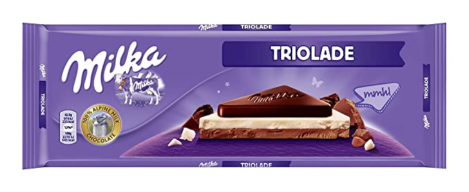 Milka - Tableta De Chocolate Leche Con Negro Y Blanco - 300 g - Pack de