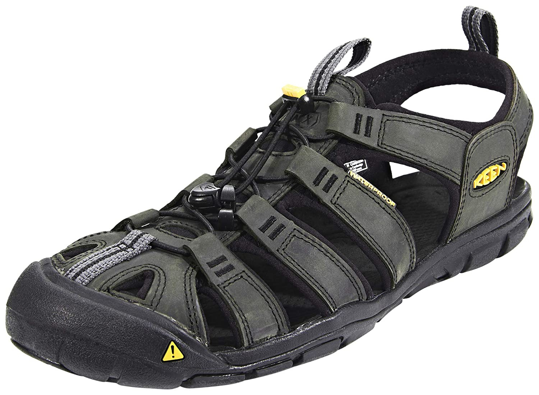 KEEN Clearwater CNX Leather Sandals Men Magnet schwarz Größe US 10,5   EU 44 2019 Sandalen