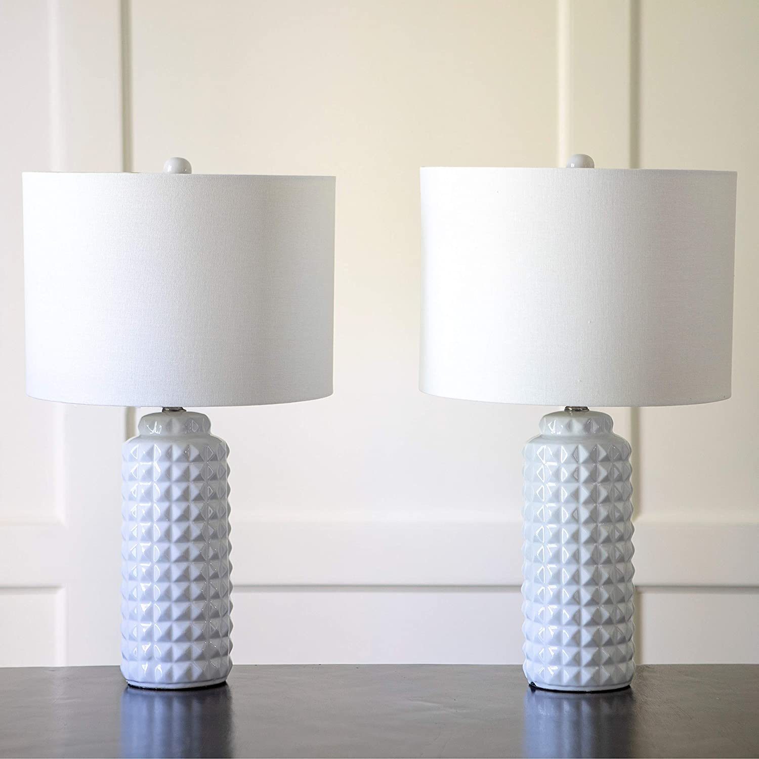 Decor Therapy Mp1634 Pair Of 24 24 Inch Felix Led Table Lamps Set Of 2 White Home Improvement Amazon Com