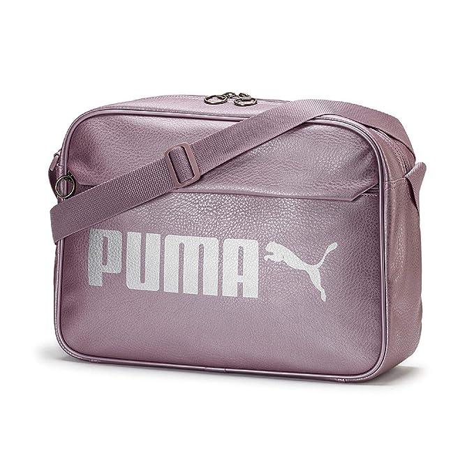 Puma Campus Reporter PU Bolsa Deporte, Unisex Adulto, Elderberry Silver/Metallic, OSFA
