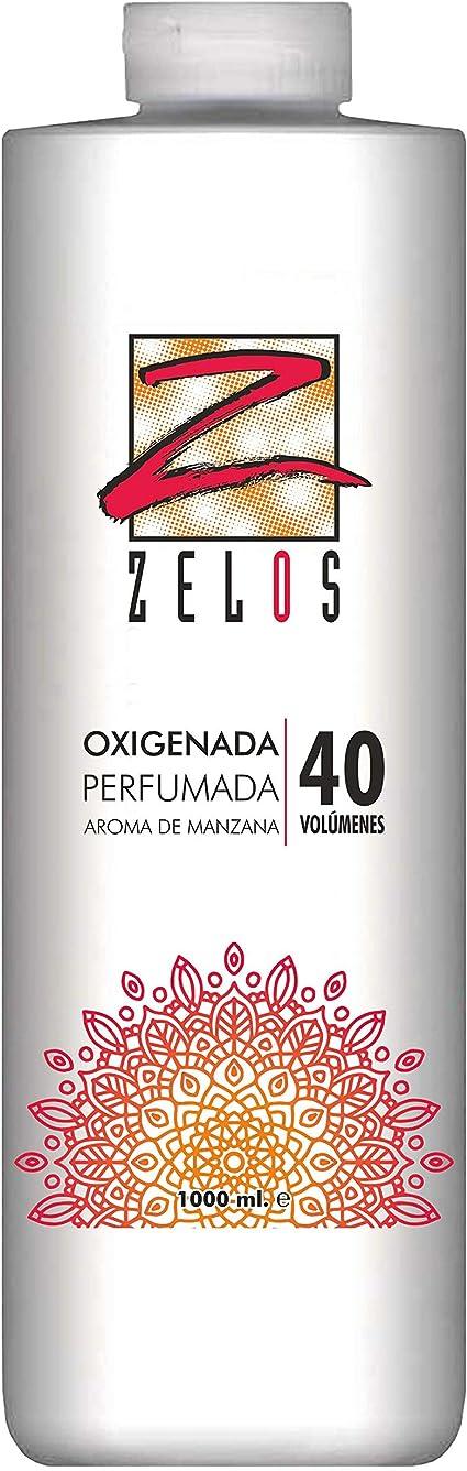 Oxigenada 40 volúmenes - 1000 ml - Aroma de Manzana - Emulsión Oxidante en Crema para Tinte y Decoloración - Da una Textura Sedosa Al Cabello - Uso ...