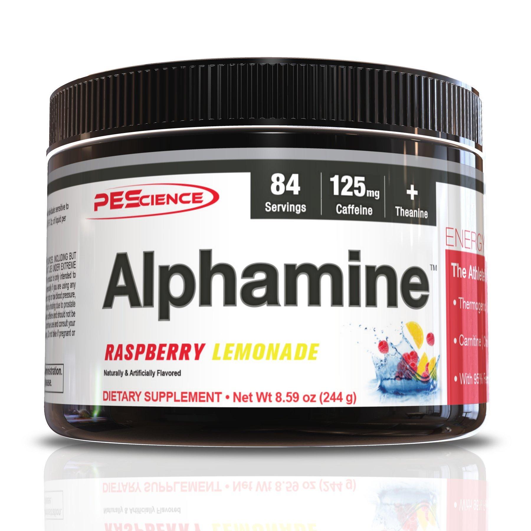 PEScience Alphamine, Raspberry Lemonade, 8.59 Ounce, 84 Servings