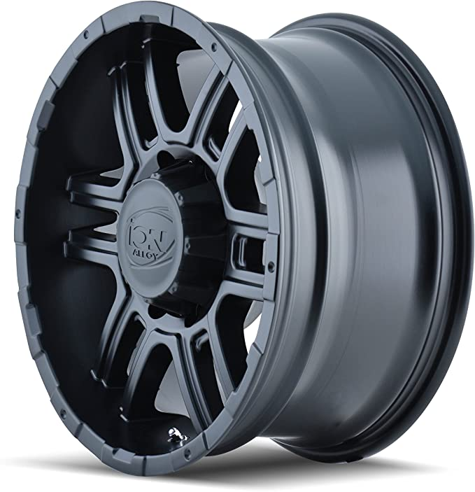 16x8//5x114.3mm Ion Alloy Style 179 Wheel with Matte Black Finish