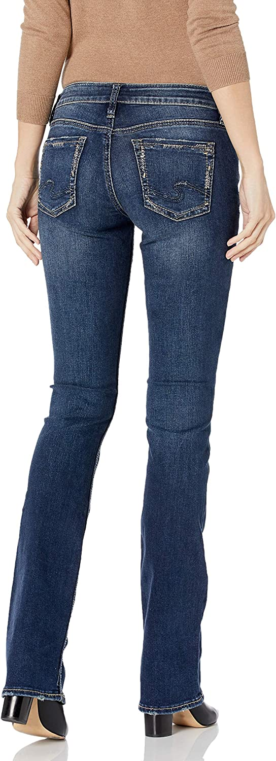 Silver Jeans Co Womens Suki Curvy Fit Mid Rise Slim Bootcut Jeans