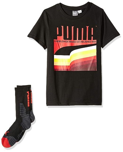 187e0d885a21 Amazon.com: PUMA Boys' T-Shirt & Sock Set: Clothing