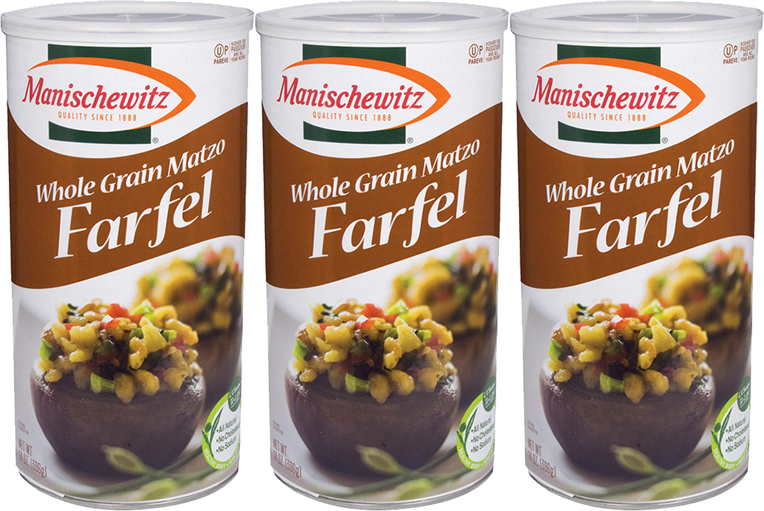 Manischewitz Whole Grain Matzo Farfel Kosher For Passover 14 Oz. PK 3.