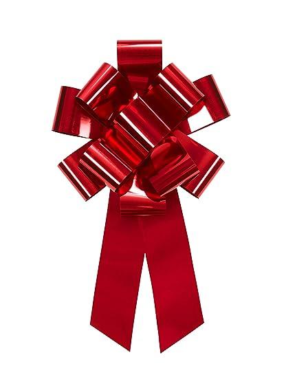 spesso Fiocco gigante da regalo e per auto, colore rosso, forma a  MS45