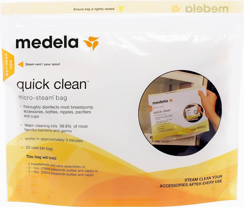 Medela Quick Clean Micro-Steam Bags Inc. CA 27026 251