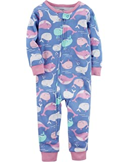 23b89b91c751 Amazon.com  Carter s Girls  1-Piece Footless Fleece PJs  Clothing