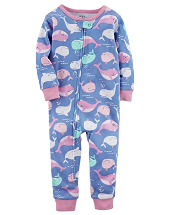 447628fbd Amazon.com  Carter s Little Girls  1-Piece Snug Fit Cotton Footless ...