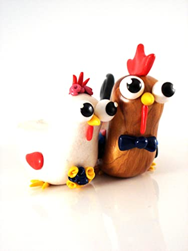 amazon com chicken and rooster wedding cake topper handmade
