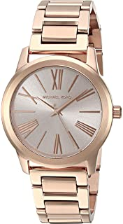 Michael Kors Womens Hartman Rose Goldtone 3 Hand Watch