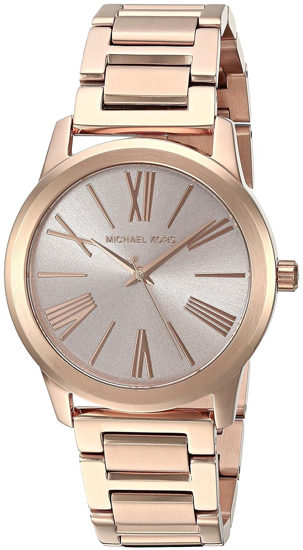 2d1fd5f93fbc Amazon.com: Michael Kors Women's Hartman Rose Gold-Tone Watch MK3491: Michael  Kors: Watches