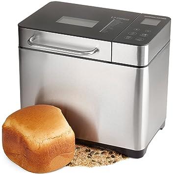 Panificadora digitale cocinado Fraiche Andrew James con 17 funciones, despedida retardado y dispensador automático para