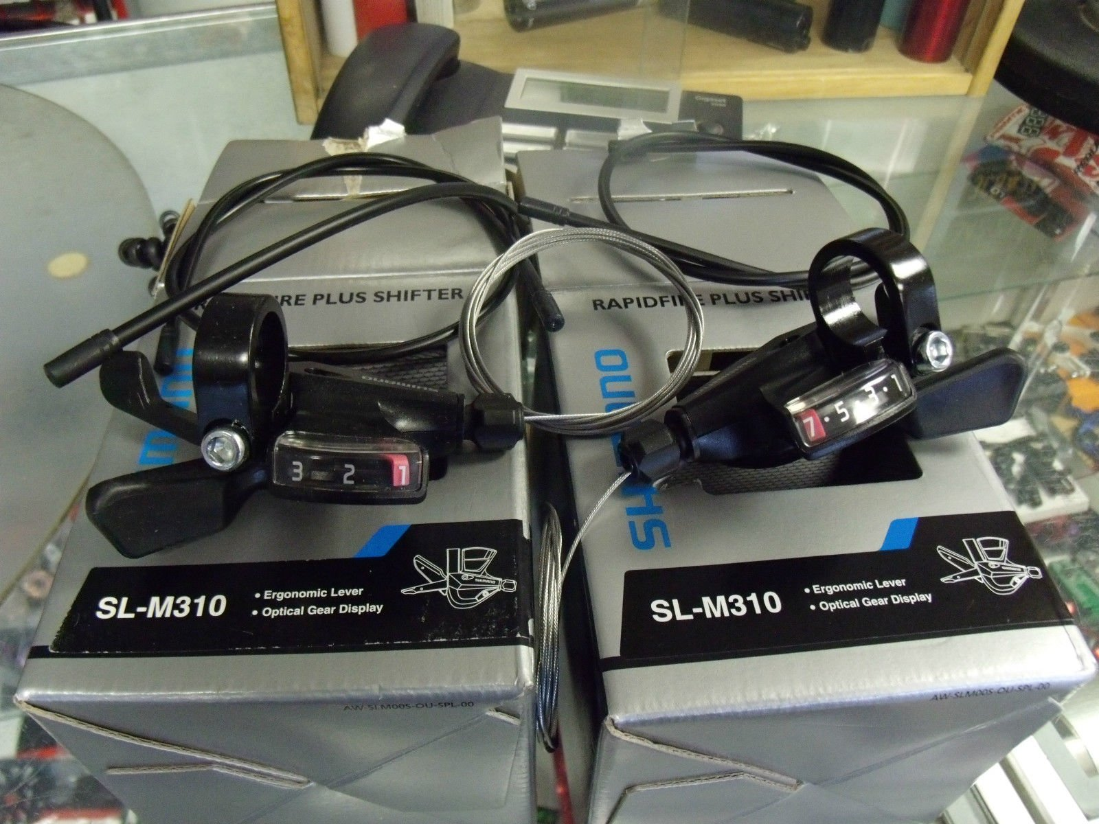 SHIMANO M310 Altus Rapid Fire 3 x 7 Speed Black Bicycle Gear Shifter Set