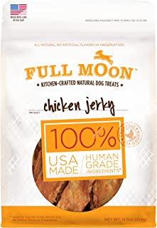 product image for Full Moon All Natural Human Grade Dog Treats, Chicken Jerky, 12.5 Ounce
