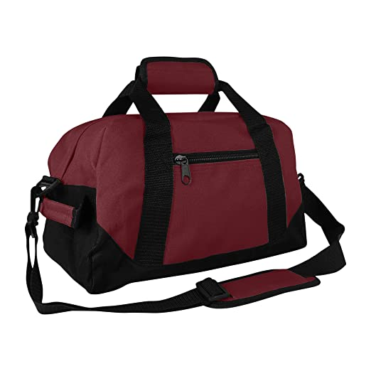 ef3c84cf8994 DALIX 14 quot  Small Duffle Bag Two Toned Gym Travel Bag (Maroon)