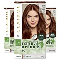 Clairol Natural Instincts Semi-Permanent, 6R Light Auburn, Pack of 3
