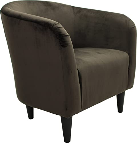 Microfiber Bucket Accent Chair