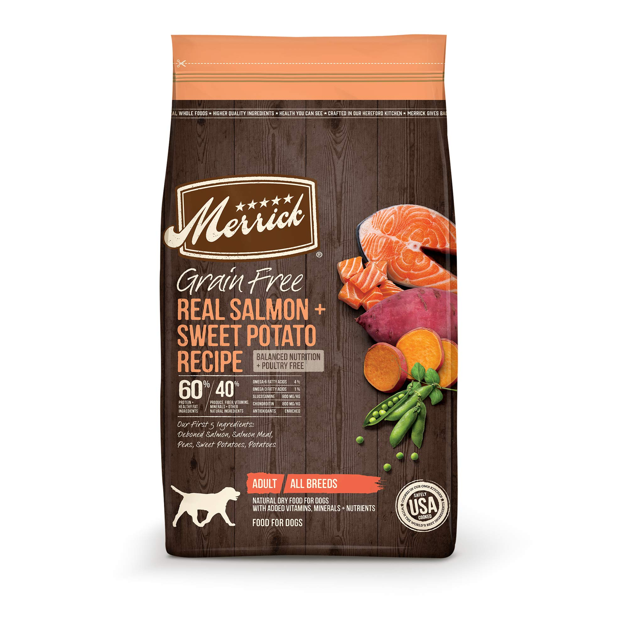 Merrick GF Salmon + Sweet Potato Recipe Dry Dog Food, 22 lb by Merrick