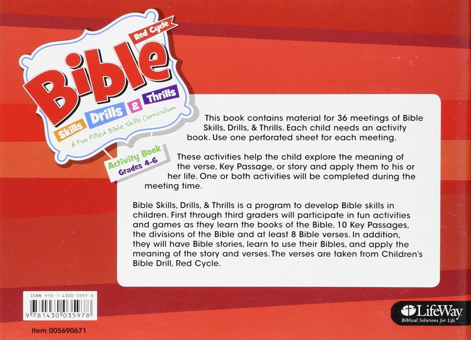 bible skills drills u0026 thrills red cycle grades 4 6 activity