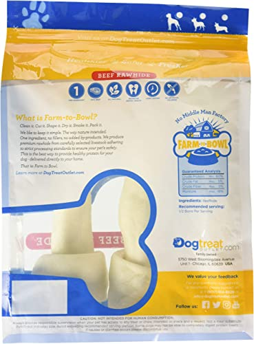 Large Sized Rawhides for Dogs, Rawhide Dog Bones are Made from Pure 100 Cattle. Long Lasting Dog Chew Designed for Aggressive Chewers Large Dogs -Dog Treat Outlet-