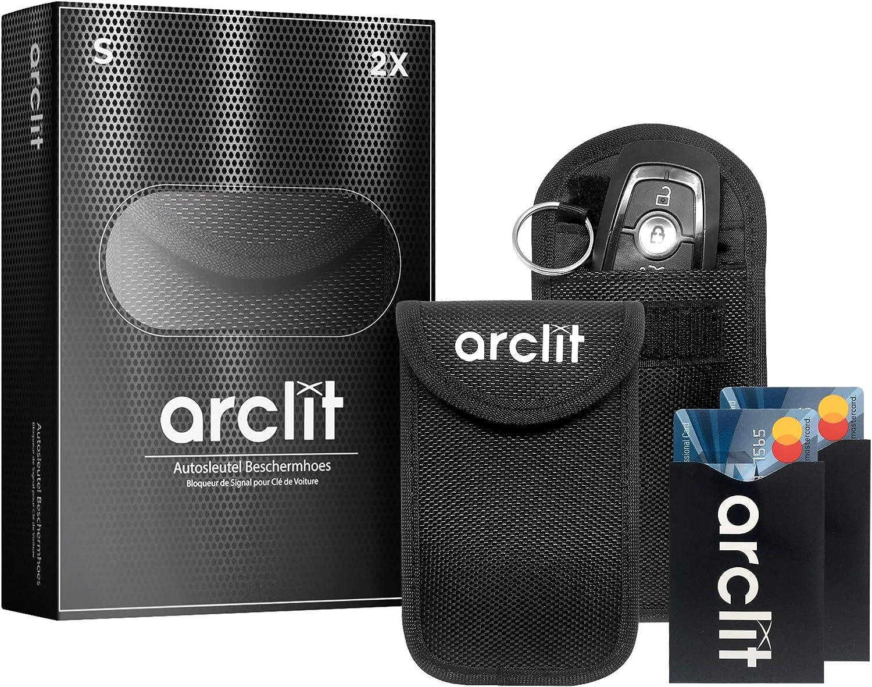 Arclit 2x Keyless Go Schutz Autoschlüssel 2x Rfid Blocker Schutzhüllen Für Kreditkarten Bankkarten Verhindere Den Diebstal Deines Autos Auto